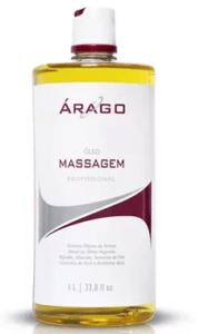 óleo para massagem, árago, drenagem linfática